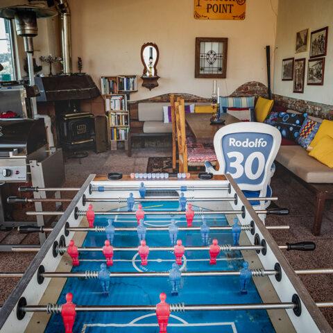 Tischfussball in der Lounge
